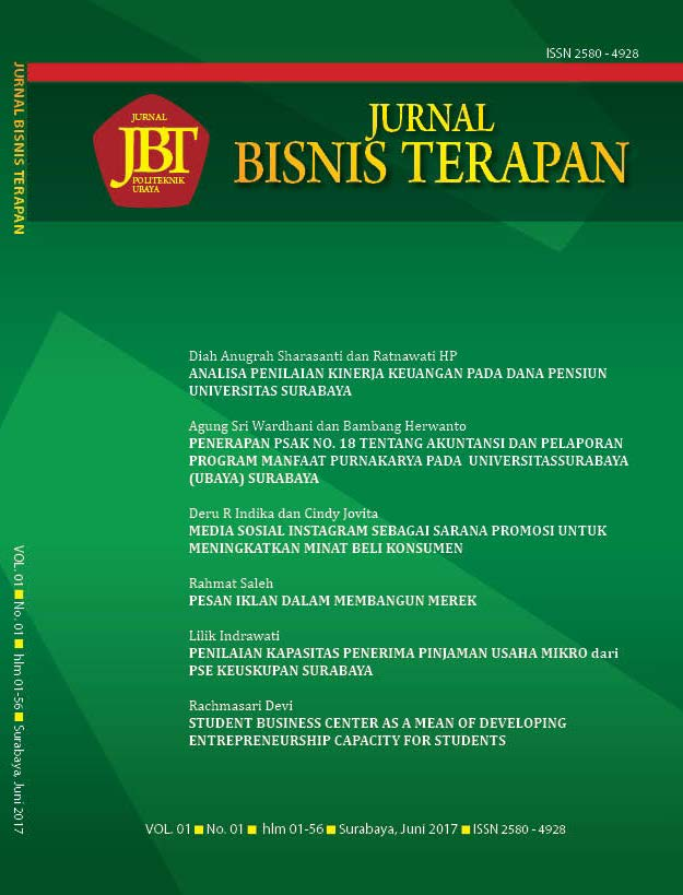 Jurnal Ilmiah Bisnis Terapan