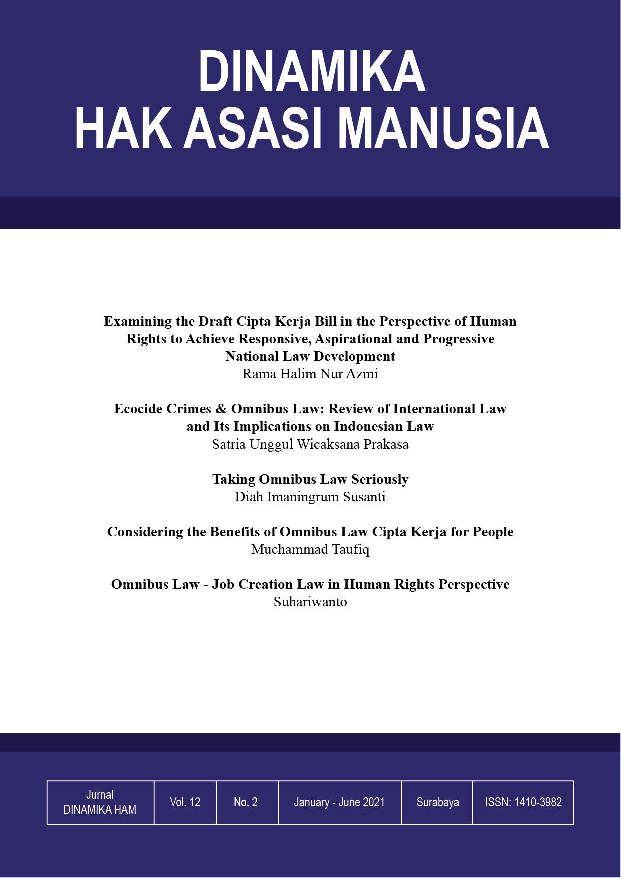 Cover Dinamika Hak Manusia Manusia